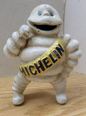 "Vintage cast iron figure of ""Michelin Man"""