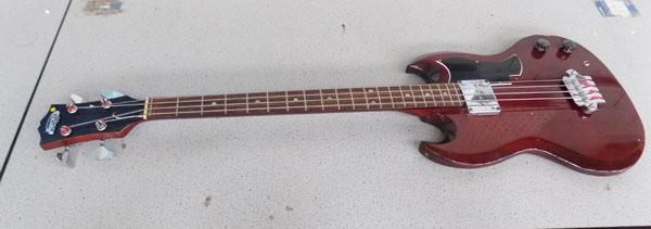 Avon Japanese SG shape electric bass guitar