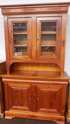 Solid cherry wood display cabinet