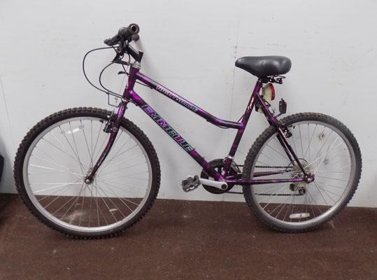 "Emmelle Nightshade black/purple 26"" rigid 10 gears bike"