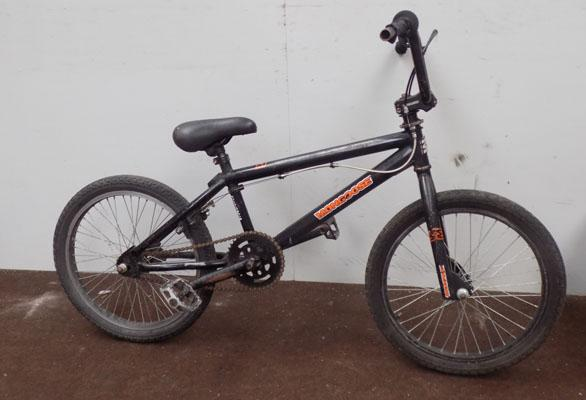 "Mongoose Proclass BMX black 20"" rigid 1 gear bike"