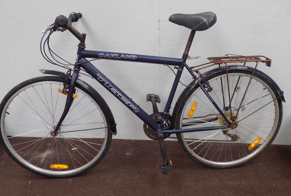 Tiger Oakland blue 700C rigid 15 gears bike