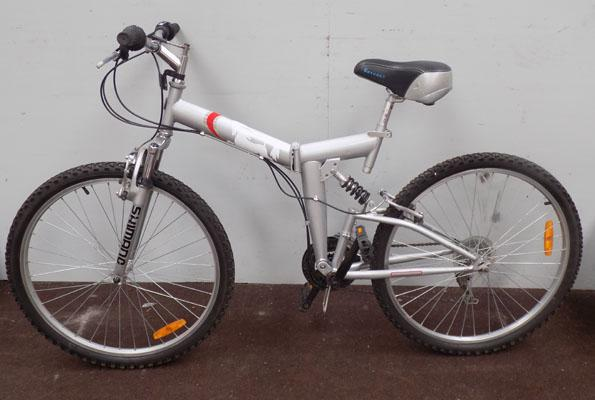 "Unicorn folding silver 26"" full suspension 18 gears bike"