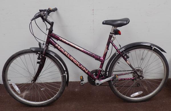 "Townsend Harlequin ladies black/purple 26"" rigid 15 gears bike"