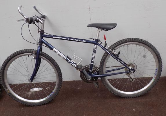 "British Eagle Beta blue 26"" rigid 21 gears bike"