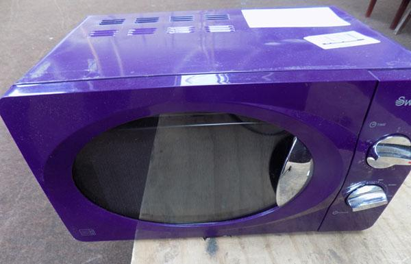 Purple microwave - bought as seen