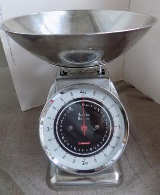 Stainless steel kitchen scales