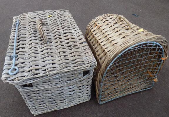 x2 wicker baskets