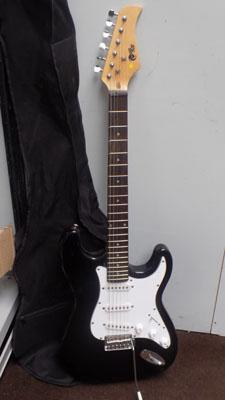 Power play electric guitar including case