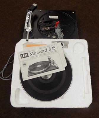 Miracord 625 record player deck (untested)