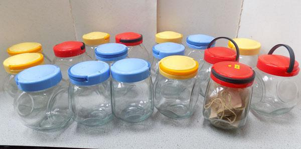 Selection of storage jars + scoops