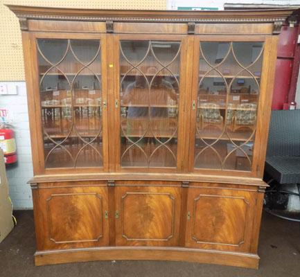 Large glass fronted display cabinet - key in office