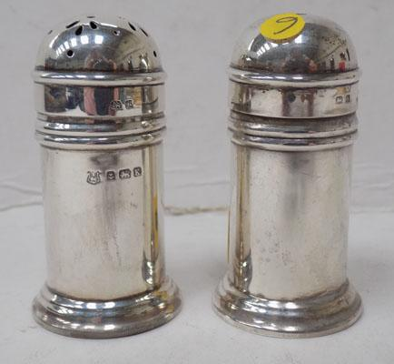 Matching silver salt & pepper pot - Birmingham hallmark