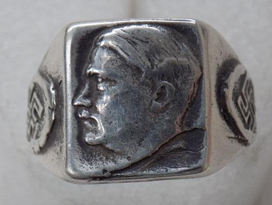 800 silver Adolf Hitler ring