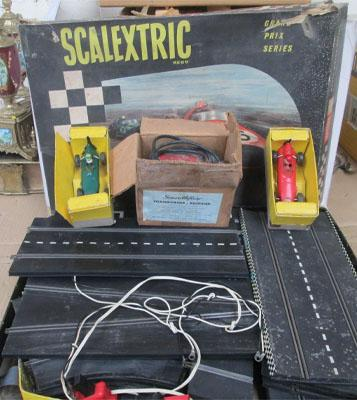 Scalextric Grand Prix series & two cars & transformer