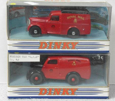 2 Dinky diecst vans: Fordson GPO no42 & Commers DY8