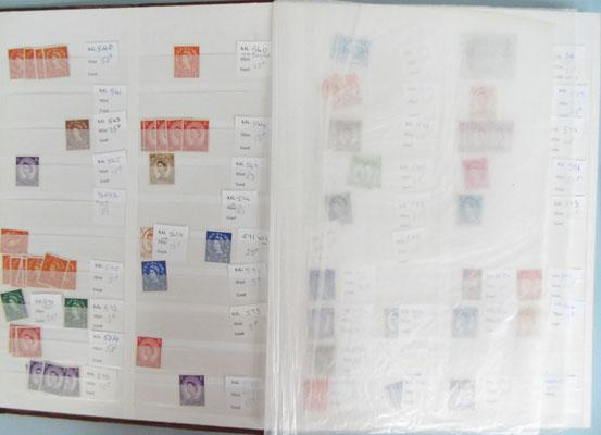 Dealers stock-book of mint early British stamps