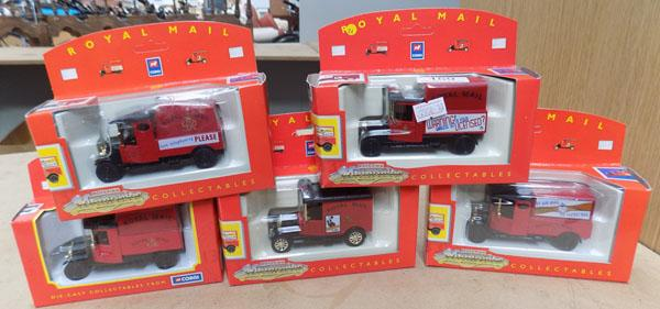 Collection of Corgi motoring memories diecast cars, Royal Mail