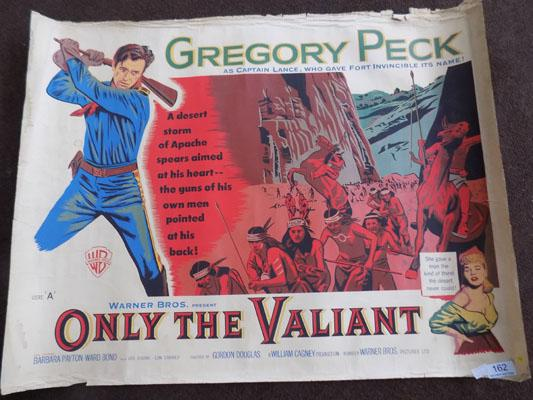 Original film poster Only The Valiant starring Gregory Peck