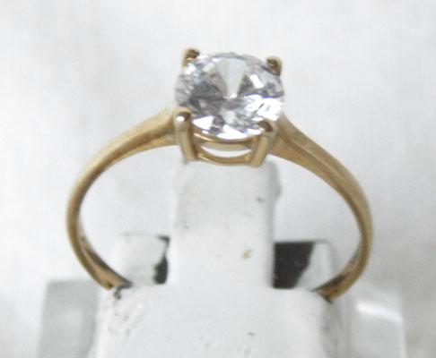 9ct gold 1ct stone solitaire ring