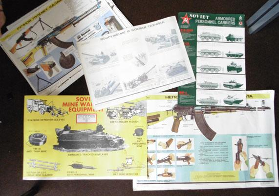 Russian Military weapons posters