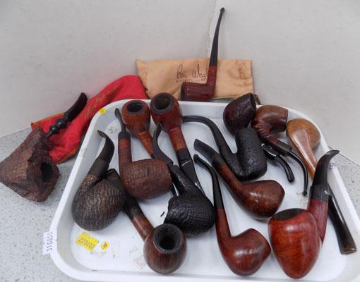 Tray of assorted pipes including Adelphi/Bromage