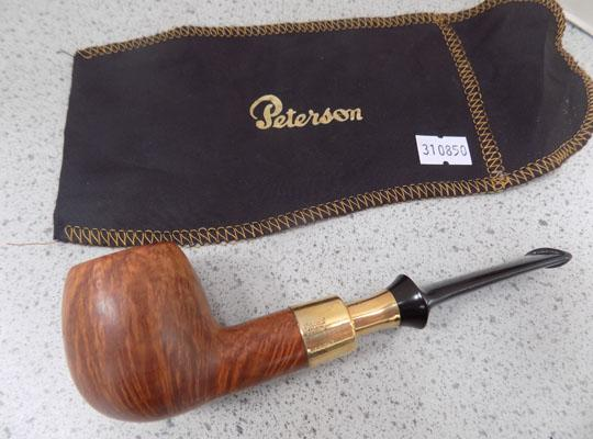 Peterson 9ct gold pipe