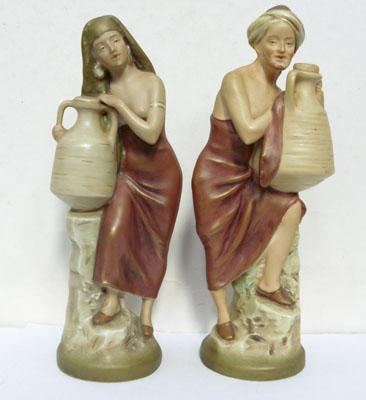 Pair of Royal Dux statues
