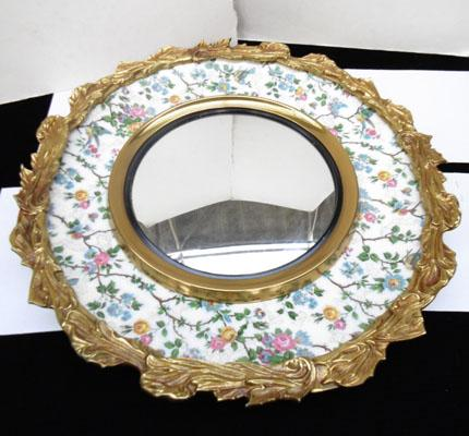 Mirror on Burley ware plate