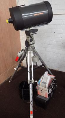 Celestron telescope with sky scanner computer controlled unit