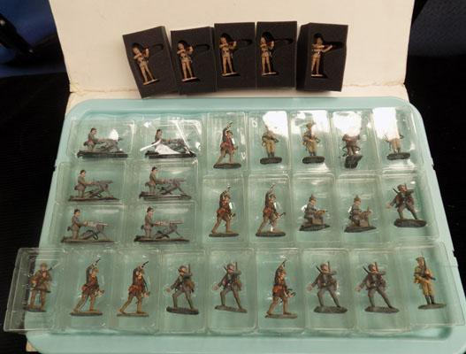 Box of model soldiers