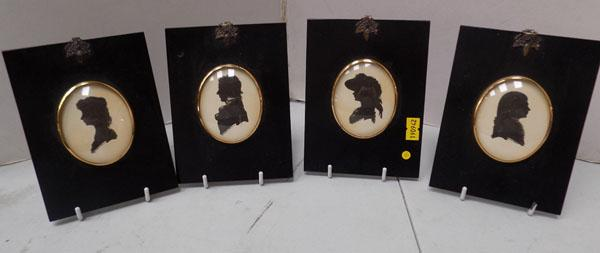 4 old silhouettes