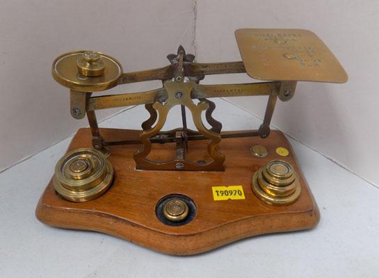 Postal scales with weights