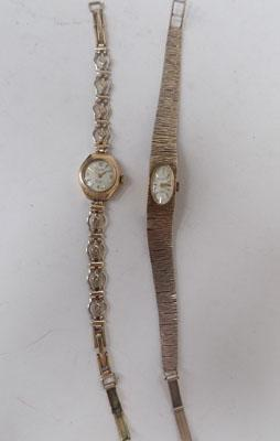 2 gold plate ladies watches