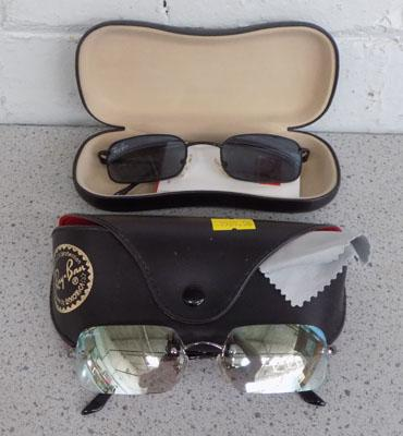 2x Rayban sunglasses with original boxes and papers