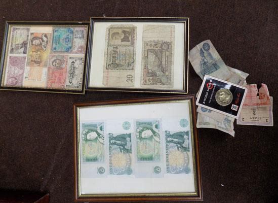 Collection of notes inc Nazi + £1 note