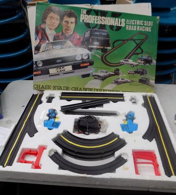 """The Professionals"" Slot road racing ideal game - 1970's"