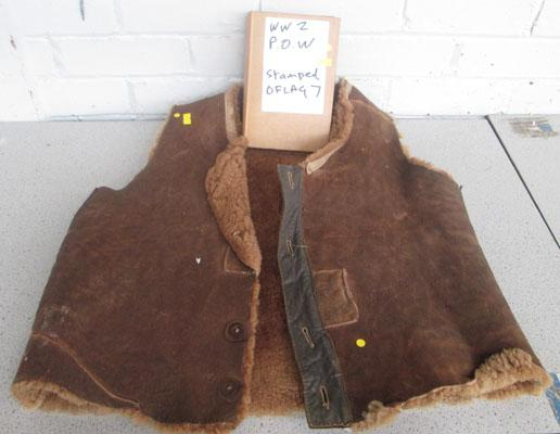 WWII Bomber Command flying jacket/WWII POW stamped OFLAG 7