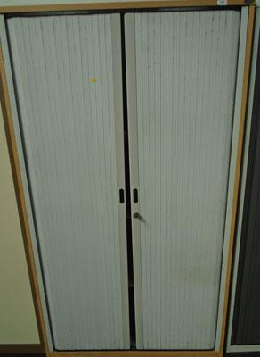 6ft wooden storage cabinet with doors
