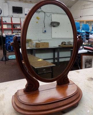 Vanity mirror with compartment