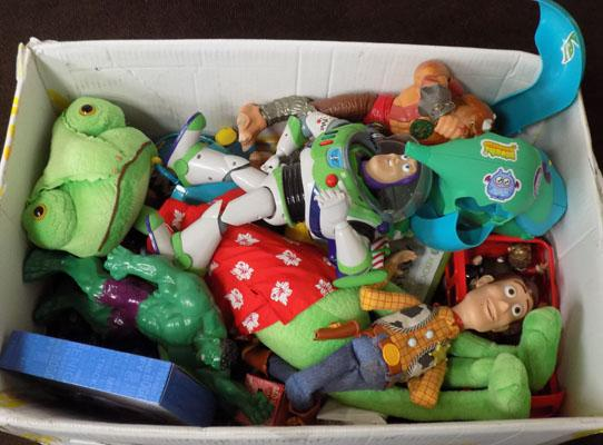 Big box of toys including  Toy Story