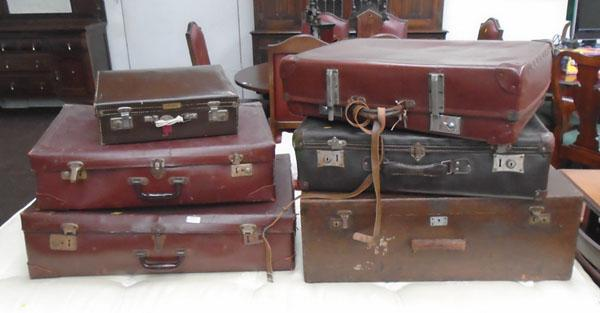 Collection of suitcases
