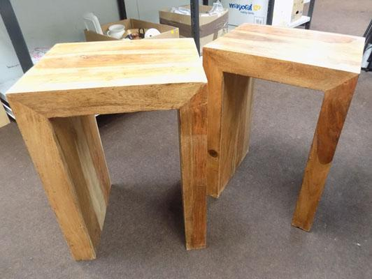 2 Mexican hardwood tables