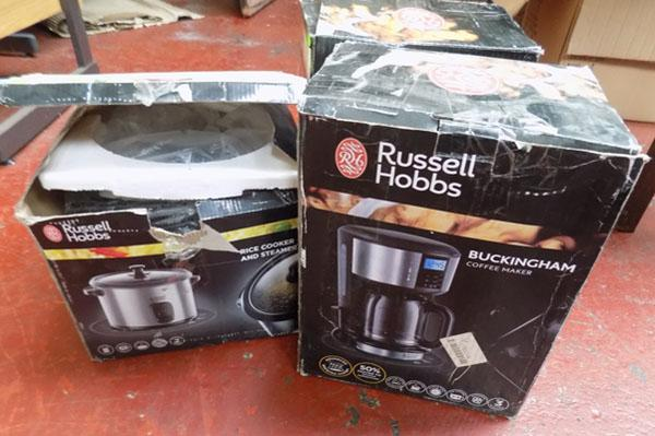3 x Russell Hobbs kitchen ware - BOUGHT AS SEEN