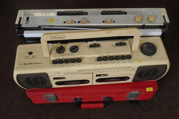 Selection of Retro items inc 2 stereos