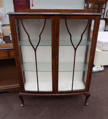 Vintage china cabinet with shelves - key in office