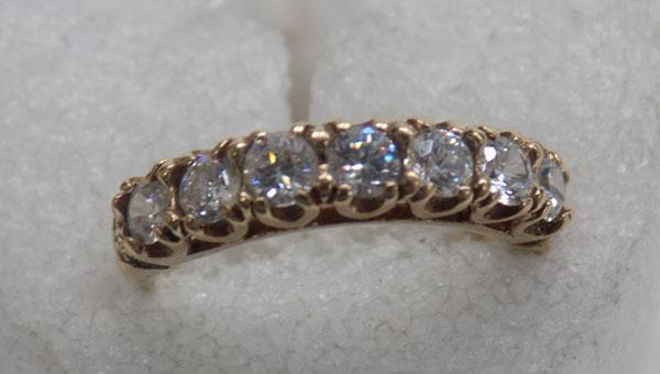 9ct gold half eternity ring
