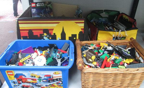 Large collection of Lego and instructions