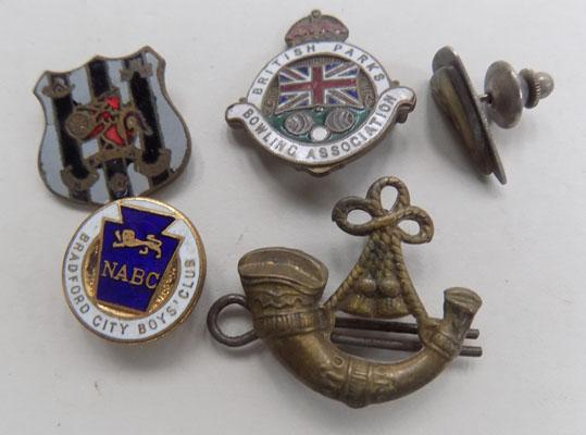 Collection of badges + tie pins