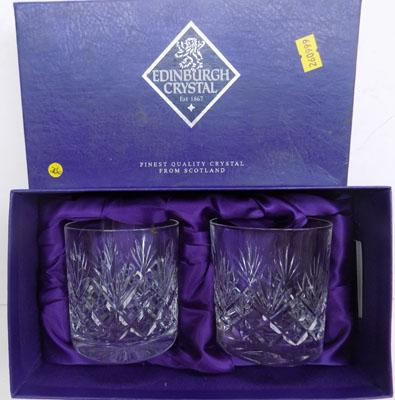 2 Edinburgh crystal glasses